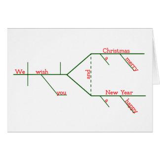 Cartão Feliz Natal gramatical Diagrammed EDITÁVEL
