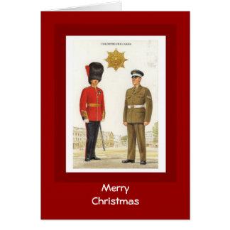 Cartão Feliz Natal, guardas de Coldstream