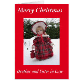 Cartão Feliz Natal irmão e irmã na lei