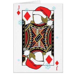 Cartão Feliz Natal Jack dos diamantes - adicione suas