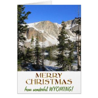 Cartão Feliz Natal maravilhoso de Wyoming