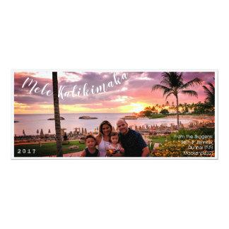 Cartão Feliz Natal Mele Kalikimaka de Havaí