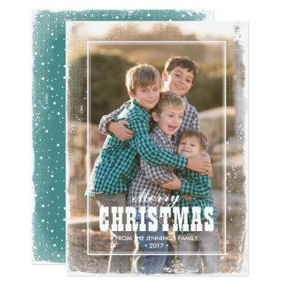 Cartão Feliz Natal ocidental do país