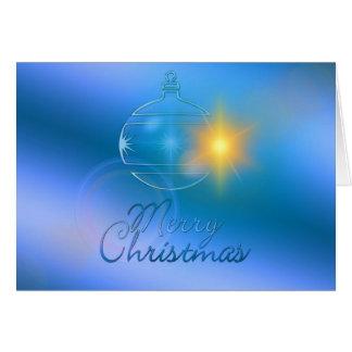 Cartão Feliz Natal, ornamento, negócio