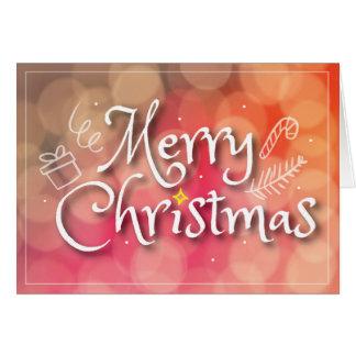 Cartão Feliz Natal padrão