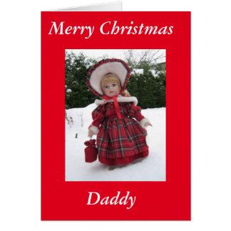 Cartão Feliz Natal, pai