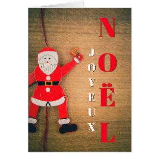 Cartão Feliz Natal Pai Natal Grimpeur Mapa de Desejos