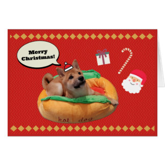 Cartão Feliz Natal Shiba