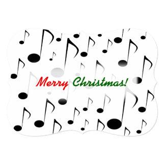 """Cartão """"Feliz Natal!"""" + Teste padrão de muitas notas"""