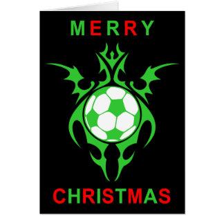 Cartão Feliz Natal tribal do futebol
