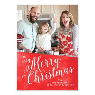 Cartão Feliz Natal vermelho