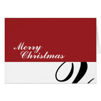 Cartão Feliz Natal - vermelho/Squiggle preto
