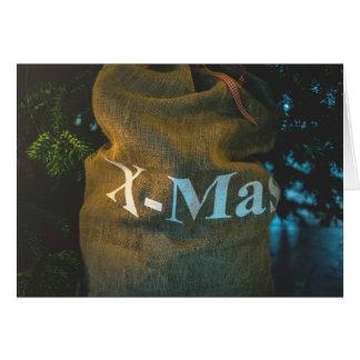 Cartão Feliz Natal, X-MAS
