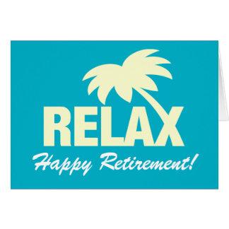 Cartão feliz personalizado da aposentadoria