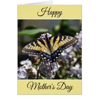 Cartão feliz personalizado da borboleta do dia das