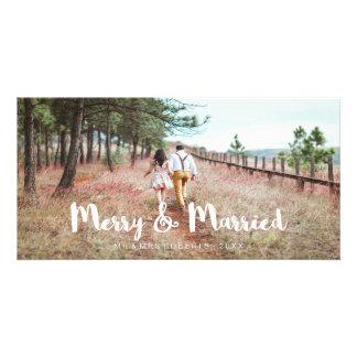 Cartão Feliz simples e lunática e casado