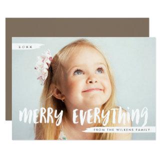 Cartão Feliz tudo cumprimento na moda da foto
