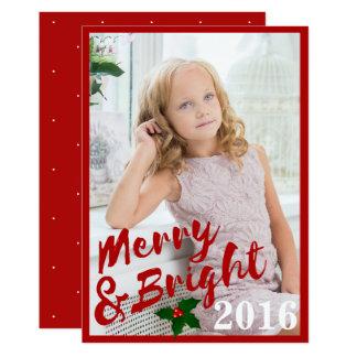 Cartão Feliz vermelha do curso da escova & quadro