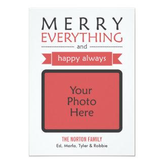 Cartão Feliz vermelha tudo sempre foto feliz do feriado