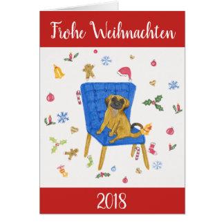 """Cartão """"Felizes Natais"""" - dulçura cão"""