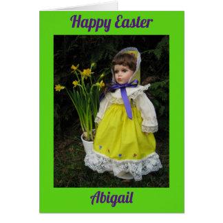 Cartão Felz pascoa Abigail