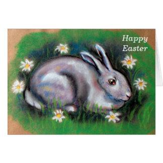 Cartão Felz pascoa do coelhinho da Páscoa