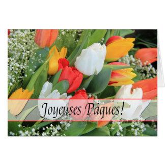 Cartão Felz pascoa do francês de Joyeuses Pâques