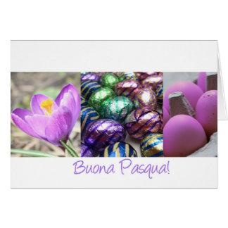 Cartão Felz pascoa do italiano de Buona Pasqua