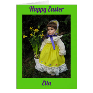 Cartão Felz pascoa Ella