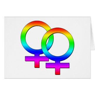 Cartão fêmea de dois sinais