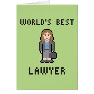 Cartão fêmea do advogado do mundo do pixel o