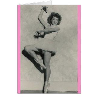 cartão fêmea novo do dançarino da bailarina