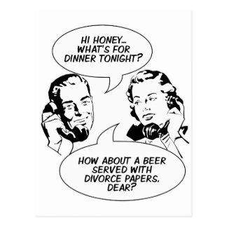 Cartão feministas retros do humor