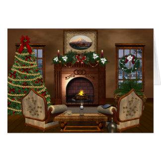 Cartão Feriado acolhedor do Natal do país