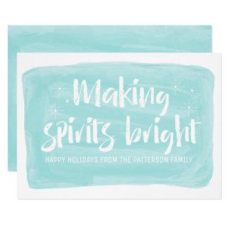 Cartão Feriado brilhante dos espírito do fazer da