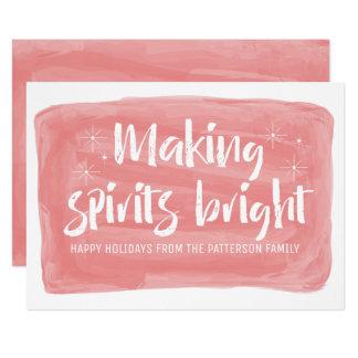 Cartão Feriado brilhante dos espírito vermelhos do fazer