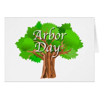 Cartão Feriado da árvore do dia de mandril