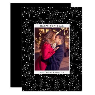 Cartão Feriado da foto do ano novo da elegância