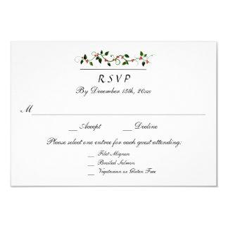Cartão Feriado de inverno que Wedding 3 a resposta da