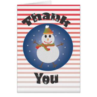Cartão Feriado do boneco de neve