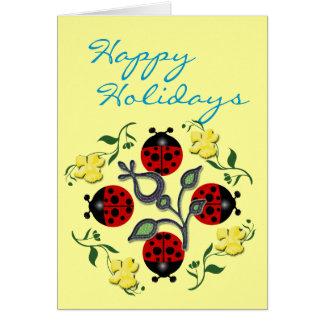 Cartão Feriado do joaninha