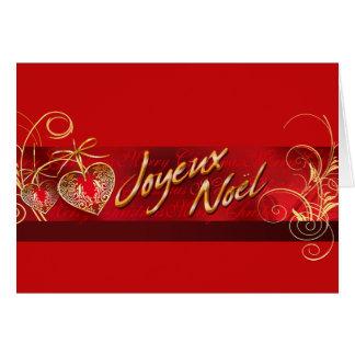 Cartão Feriado do Natal de Joyeux Noël