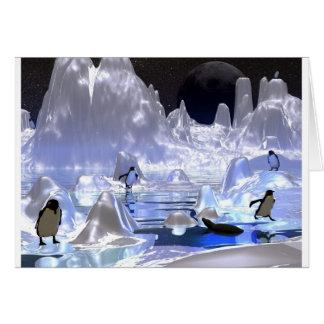 Cartão feriado do pinguim da arte 3d