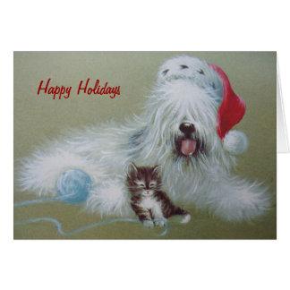 Cartão Feriado do SheepDog