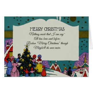 Cartão Feriado dos Carolers do Natal do Victorian do