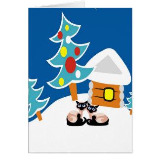 Cartão Feriado dos gatos Siamese