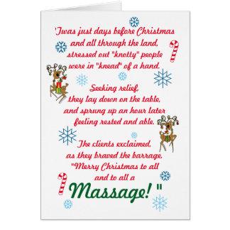 Cartão Feriado engraçado bonito do Natal da terapia da