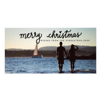 Cartão Feriado escrito à mão do roteiro do Feliz Natal