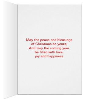 Cartão Feriado feliz Chirstmas com única árvore