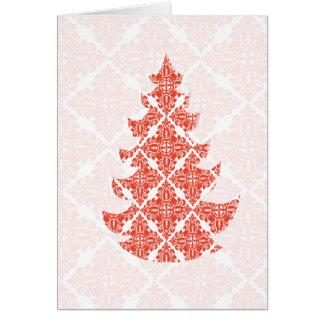 Cartão Feriado incorporado do Natal luxuoso extravagante